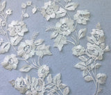 Craftuneed A mirror match pair bridal wedding floral lace applique sew on flower lace motif patch for dress sewing