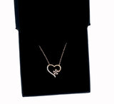 Craftuneed snowflake rose gold plated necklace women heart pendant  necklace 925 sterling silver necklace gift