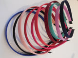A Women Plain Alice band headband fabric wrapped alice band hair band accessory diy various colours. Sold by per piece