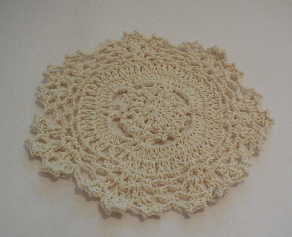 A handmade crochet floral style lace doilies tableware in various colours Sold by per piece