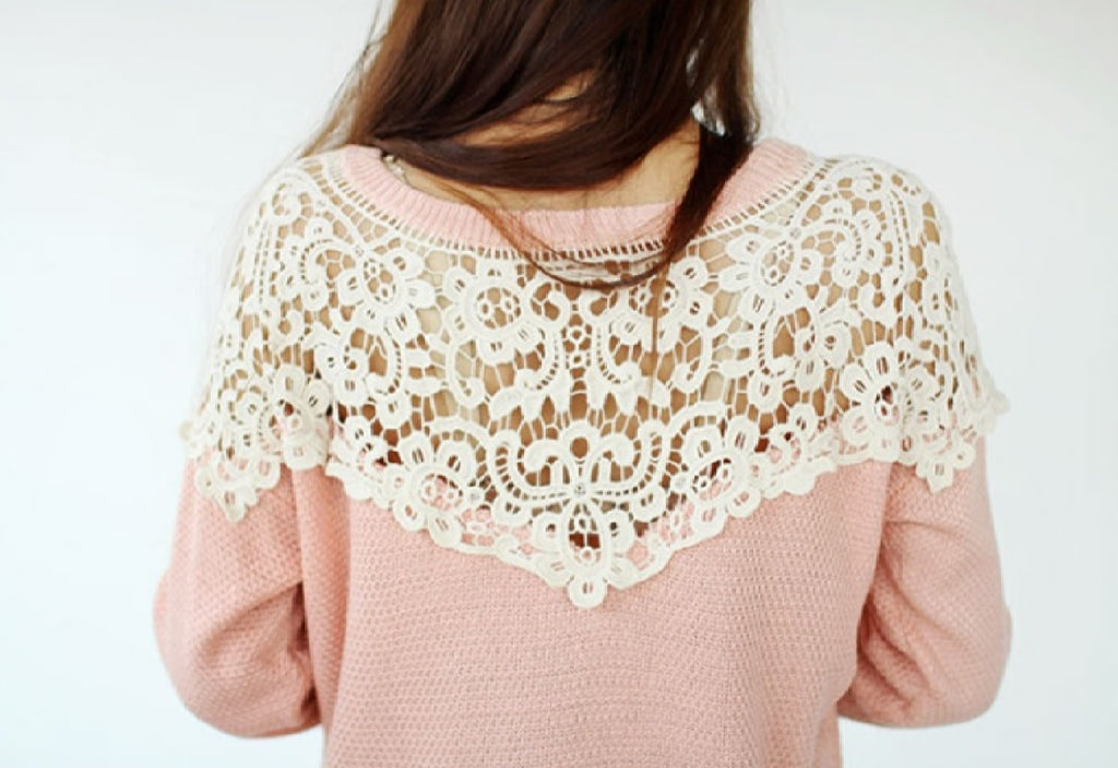 A piece of dark ivory cotton floral lace collar applique ivory collar sewing lace motif is for sale.