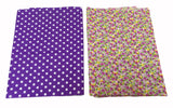 2 pieces X cotton fabric sheet multi pattern print for face cover diy sewing craft materials Each size 45cm X 45cm