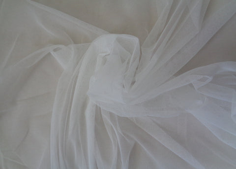Ivory soft tulle fabric for dress making DIY 150cm fabric wide.  sold by Per 0.5 Meter