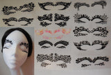 black eye shadows tattoo sticker Festival temporary face lace art tattoos sticker Per Pair