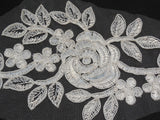 Bridal wedding ivory floral lace applique / lace motif 25.5cm x11.5cm By piece
