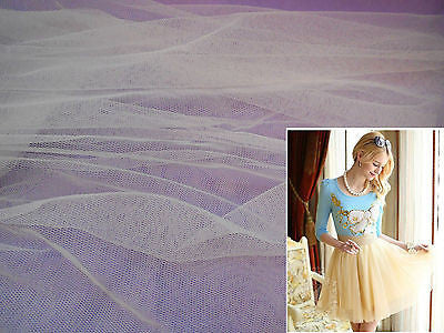 Ivory Soft Tulle Fabric for Dress making DIY 160cm wide.Sold per 0.5Meter