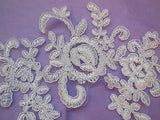 Off white bridal cord floral lace Applique / lace motif for sale.Sold by piece