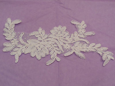 ivory bridal cord floral lace Applique / ivory bridal wedding lace motif is for sale. sold by per piece