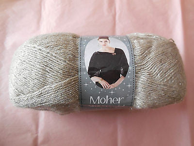 A Beige 10%Mohair,75%Acrylic,5%Polyester & 10%Wool yarn for sale,sold by roll.