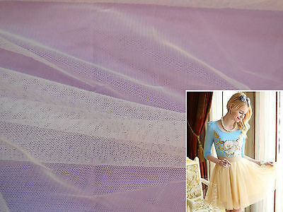 White Soft Tulle Fabric Dress making/ all kind of DIY 160cm wide.Sold per 0.5Meter