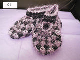 Women handmade knitted pattern socks slippers.2 colours choices.SOLD by pair(s)