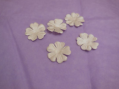 5pcs Champagne Fabric flower petals bridal wedding hair accessory diy in 2.5cm