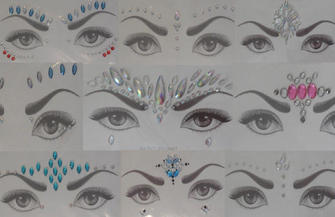 face eye shadows tattoo sticker Festival temporary face art gems tattoos sticker Per Pack