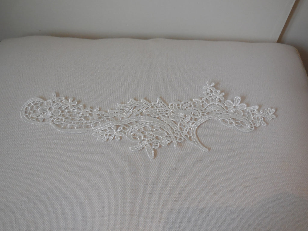 Ivory bridal wedding floral lace Applique / ivory lace motif is for sale. Sold By per piece