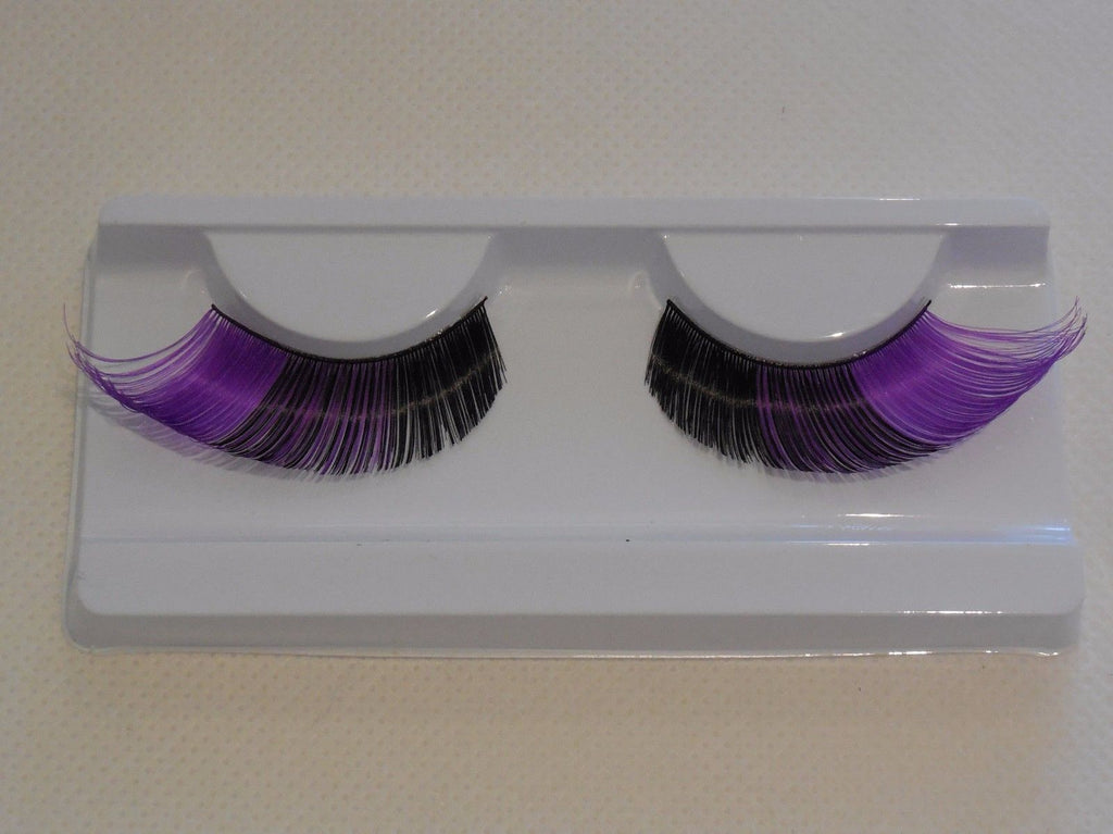 f3eee53695f fashion lilac & black false eyelashes Delicate Design Reusable fancy p –  craftuneed