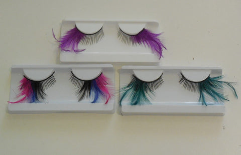 Delicate fashion feathers tails false eyelashes Handmade Reusable fancy makeup eyelashes extension