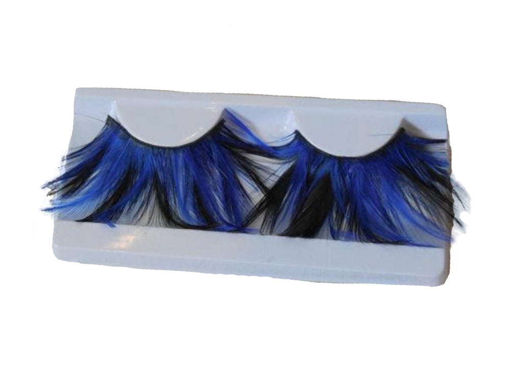 Royal blue & black feathers false eyelashes fancy fashion false eyelashes extension