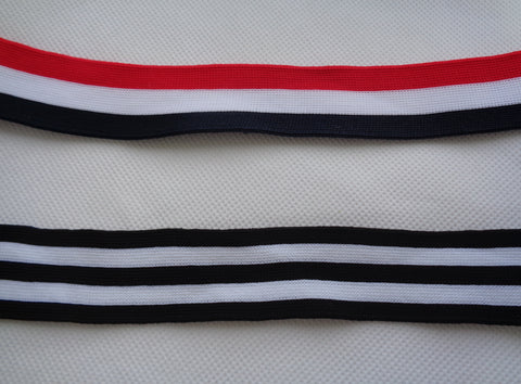 red or black soft cotton ribbon sash sewing cotton braid trim in 3cm width. Sold by Per Meter 100cm.