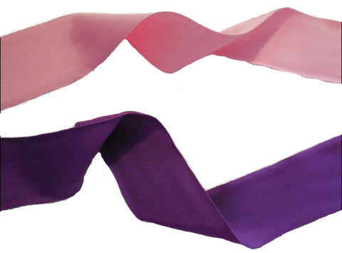 Pink or Purple Soft Double Faced Petersham ribbon /bridal wedding sash belt 50mm