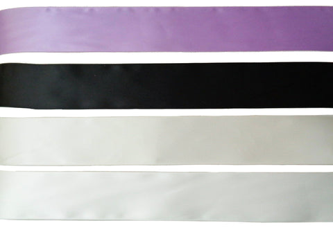 3Meter X black or lilac or ivory double sided satin ribbon sash wrap ribbon 5cm width