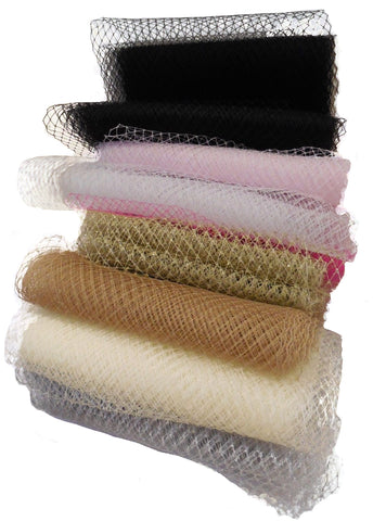 Bridal Wedding birdcage veiling Millinery hat veil net  various colours  is for sale. Sold by Per Meter