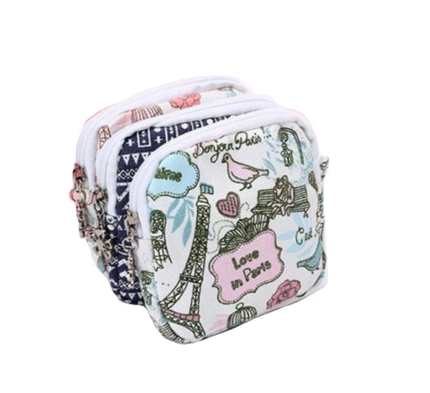 A small girls cosmetic toiletry makeup bag cotton travel wash bag various colours options