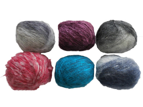 A Mohair wool yarn 100% Skin fibers in 6colours choices,sold by per 50g/roll