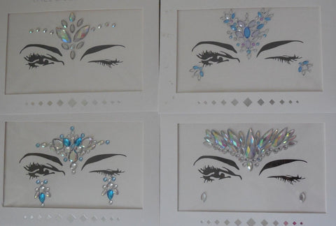 A face eye shadows tattoo sticker Festival temporary face art gems tattoos sticker