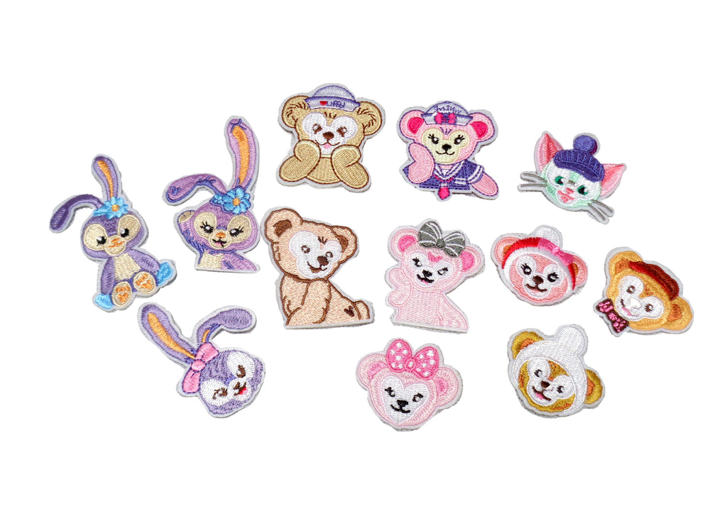 Job lot 12pieces children iron on animal patch rabbit bear iron on embroidery applique motif garment badge patches