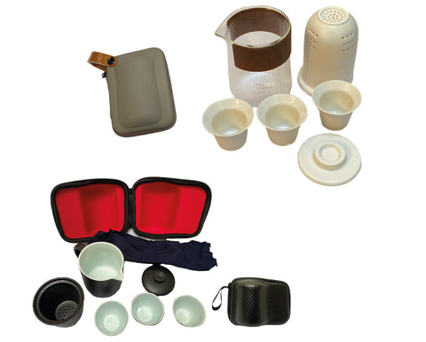 Portable travel tea set ceramic teapot with teacups and tea filter Kung Fu Tea kit gift set