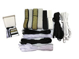 Job lot 12 types of elastic band elastic cord strap strings for mask accessory elastic materials sewing craft DIY
