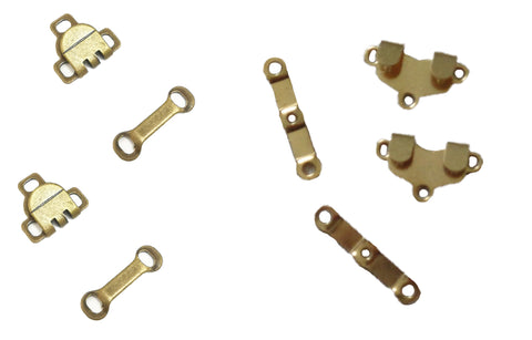 2 Sets of sew on trousers skirts hooks and bars eyes fasteners in gold colour Sold by per 2 sets