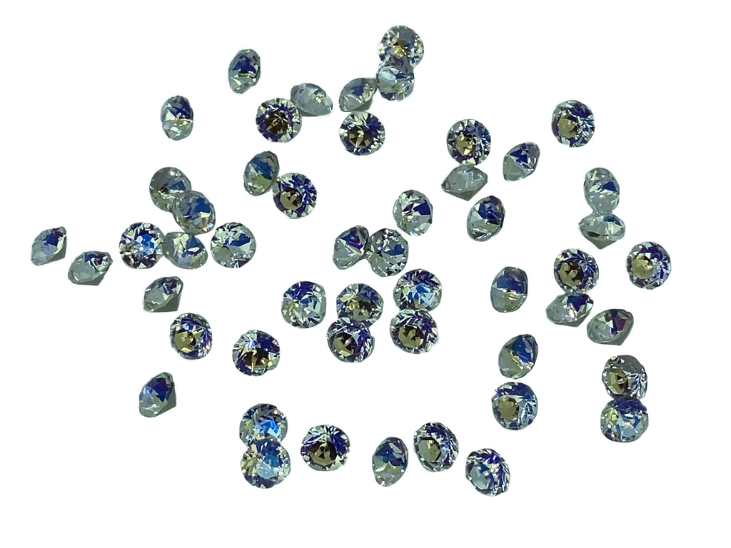 Craftuneed 50 pcs hight quality 3D crystal glass diamante rhinestones for craft making 5mm diameter various colours