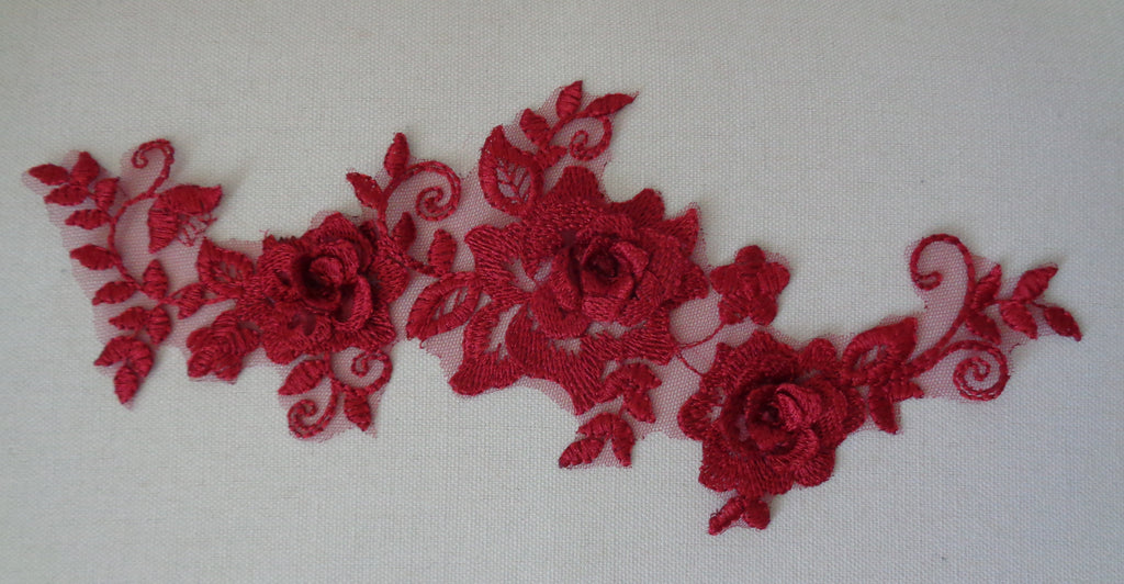 A double layered floral lace applique / floral tulle lace motif various colours sold by per piece