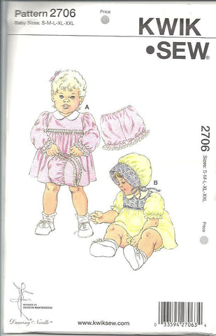 Kwik Sew - Baby Dresses and Bloomers (2706)