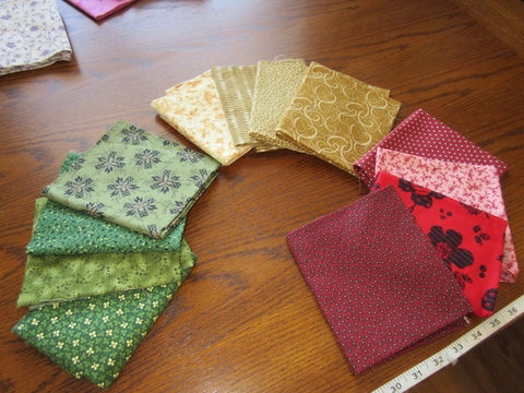 Fat Quarters - (Purchase four)  Various Colours and Themes