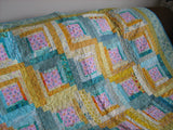 Log Cabin - Yellow, Aqua, Pink