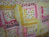 Log Cabin - Pink and Yellow