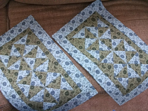 Placemats -- Blue and Green