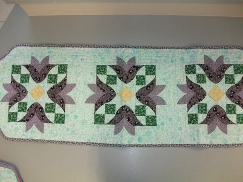 Table Runner and Table Toppers - Tulip Bell - Store Sample
