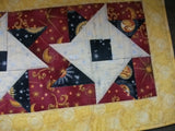 Tablerunner - Starry Night -- Gold, Yellow and Black Stars