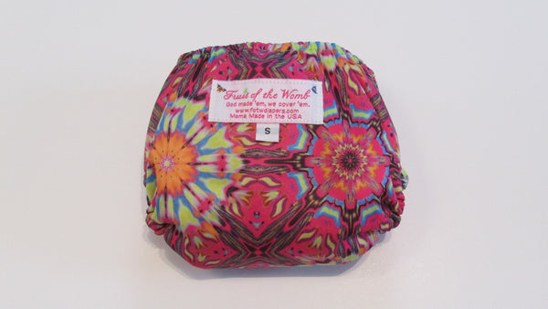 Pocket Palz Pocket Diaper in Pink Kaleidoscope-Fruit of the Womb Diapers
