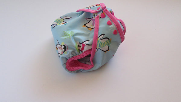 Pretty Penguins Diaper Cover-Fruit of the Womb Diapers