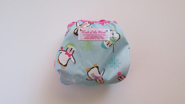 Pretty Penguins Diaper Cover