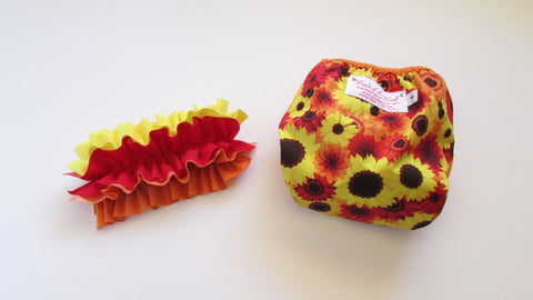Prissy Pants Fall Flowers Diaper Cover