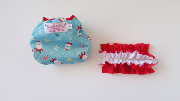 Prissy Pants Santa Claus Diaper Cover-Fruit of the Womb Diapers
