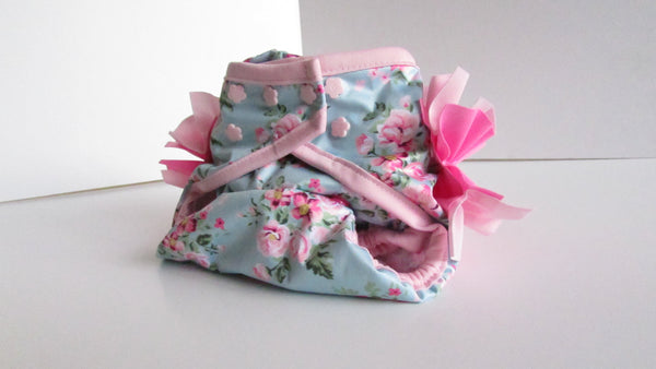 Prissy Pants Shabby Chic Roses Diaper Cover-Fruit of the Womb Diapers
