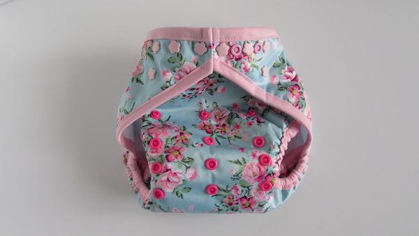 Prissy Pants Shabby Chic Roses Diaper Cover