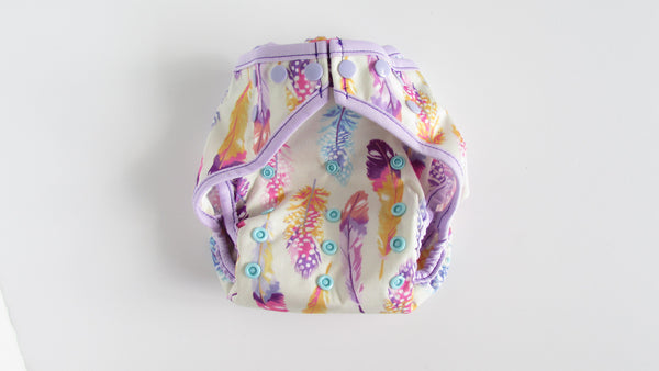 Prissy Pants Feathers Diaper Cover-Fruit of the Womb Diapers