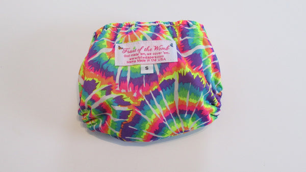 Neon Tie Dye Print pocket palz-Fruit of the Womb Diapers